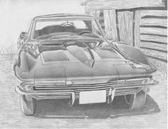 1964 Chevrolet Corvette Sports Car Art Print Art Print by Stephen Rooks