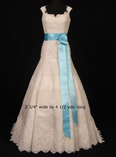 Tiffany Blue Double Faced Satin Ribbon Sash Sashes BridesmaidsBlue Bridesmaid DressesWhite