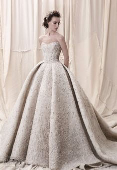 weddingdress longsleeve Embellishment champagne gold princess ball gown a line wedding dress royal train- sophisticated wedding dresses with impeccable detailing embellished bodice princess ball gown wedding dress Krikor Jabotian 2018 Wedding Dresses Dream Wedding Dresses, Bridal Dresses, Wedding Gowns, Wedding Dress With Gold, Vestidos Color Blanco, Kleidung Design, Sophisticated Wedding Dresses, Princess Ball Gowns, Ball Dresses