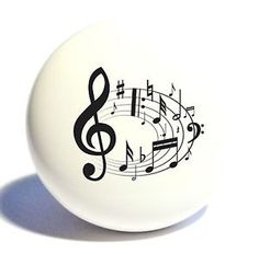 MUSIC-NOTES-HOME-DECOR-CERAMIC-KITCHEN-KNOB-DRAWER-CABINET-PULL