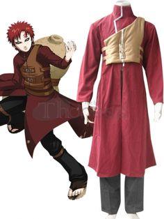 Naruto Cosplay-Naruto Shippuden Gaara Red Cosplay Costume