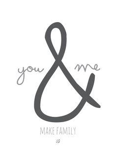 LostBumblebee ©2014 You and ME Make Family #FreePRintable - Personal use