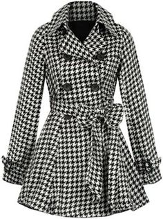 Houndstooth coat.. Classic print! ❤