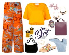 """Dot to Dot"" by gadinarmada-1 ❤ liked on Polyvore featuring Aspesi, Le Ciel Bleu, Gas Bijoux, Lizzie Fortunato, Holly Dyment, Chanel, Schutz, Shashi, Haerfest and Stuart Weitzman"