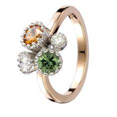 Keltainen safiiri 5,1 mm, 0,57 ct Vihreä safiiri 4,8 mm, 0,52 ct 1 x 0,21 ct H VS1 1 x 0,07 ct H VS1 #tillander #sormus #timanttisormus #vihkisormus #weddingring #engagementring 18k Gold, Wedding Rings, Engagement Rings, Jewelry, Jewellery Making, Commitment Rings, Jewerly, Wedding Ring, Jewlery