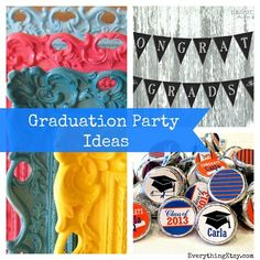 Graduation Party Printables & More on Etsy