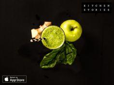 Estou cozinhando Suco Verde com @1KitchenStories - Baixe o app via http://itunes.apple.com/app/id771068291