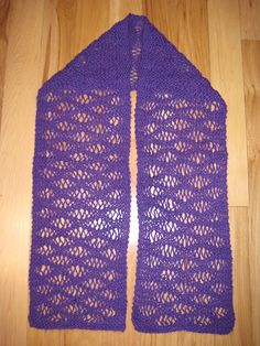 One Stitch Lace Scarf - Have to make this one!
