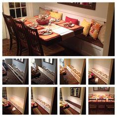 DIY Breakfast nook / Breakfast Banquette /Small Dining Room Ideas.Total cost $100-$150