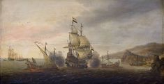 Naval Battle between Dutch Warships and Spanish Galleons, Cornelis Bol, c. 1633 - c. 1650