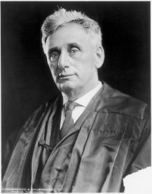 Louis D. Brandeis, the first Jewish member of the Supreme Court