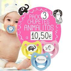 Nuevos packs ANIMALITOS!  Por solo 10.50 € llévate los tres chupetes más divertidos!