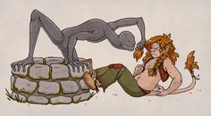 Troll and Well Man by humon on deviantART