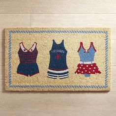 Vintage Swimwear Doormat l Coastal Outdoor Living l www.DreamBuildersOBX.com