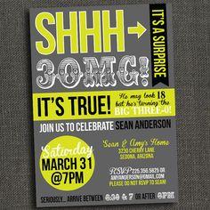 Surprise 30 40 50 Birthday Party Invitation