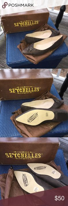 Shoes New Women's Seychelles brand shoes.  Brown leather. Size 8-1/2. Comes with Seychelles dust bag and original box. This pair of shoes was purchased at Nordstrom department store. Seychelles Shoes Flats & Loafers