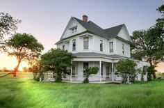 Little White Farmhouse - This is a historic Faught House, which was built in 1882, this house and land would be perfect for the family and grazing farmland….with all my animals I want to have….I would turn this house into a full self sufficient house