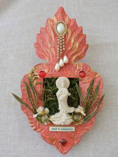 Quan Yin dwell in compassion altar nicho by sacredcreativityart, $48.00