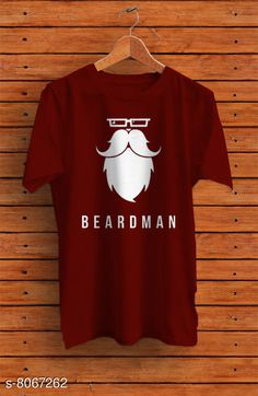 Checkout this latest Tshirts Product Name: *Beardman Men's  Half Sleeve Solid Cotton Maroon Round Neck Tees* Fabric: Cotton Sleeve Length: Short Sleeves Pattern: Printed Multipack: 1 Sizes: M (Chest Size: 40 in, Length Size: 27 in)  L (Chest Size: 41 in, Length Size: 28 in)  XL (Chest Size: 43 in, Length Size: 29 in)  Country of Origin: India Easy Returns Available In Case Of Any Issue   Catalog Rating: ★4 (344)  Catalog Name: Classic Latest Men Tshirts CatalogID_1334988 C70-SC1205 Code: 662-8067262-994