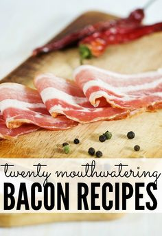 If you love bacon, check out this list of 20 mouthwatering #bacon #recipes.