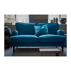 STOCKSUND 3er-Sofa - Ljungen blau, hellbraun - IKEA