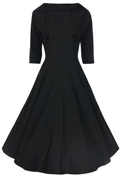 Jackie O Style Vintage 1950's 1960's 3 4 Sleeve Boat Neck Dress | eBay