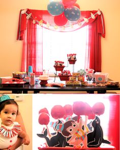 """Selah's First Birthday - Circus Party. My favorite are the cake pops my sis-in-law made. She created the """"Circus Selah"""" character and the seals are from @Brittany Egbert."""