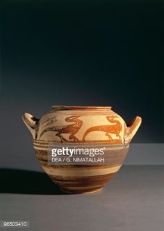 Stock Photo : 8th-7th Century B.C., Italy, Pontecagnano, Museo Nazionale Dell'agro Picentino (Archaeological Museu
