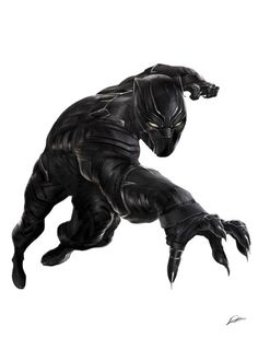 CAPTAIN AMERICA: CIVIL WAR! …so iron studios made a black panther statue based on my illustration? how cool is this?! want one!!!
