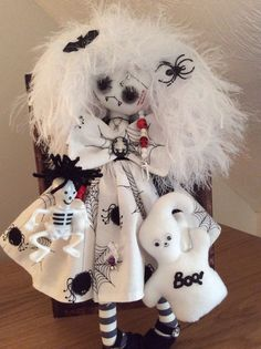 Kaly the Gothic Vampire hand made rag doll by Little Gothic Girls