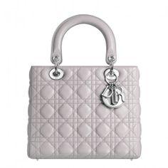 Dior CAL44551 M821 Lady Dior bag in mink-grey leather Lady Dior Bag Price 558c8817a5270