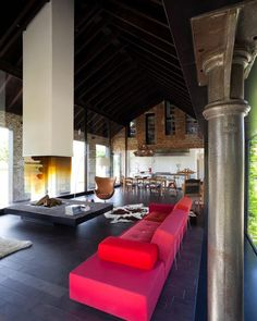 Drawn by the fireplace, but love the whole space