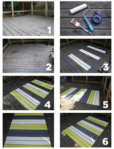 PROJECT: A PAINTED PATIO RUG IS EASY AND INEXPENSIVE