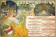 """French Posters """"Fete De Noyon"""" - Southwest Gallery: Not Just Southwest Art."""