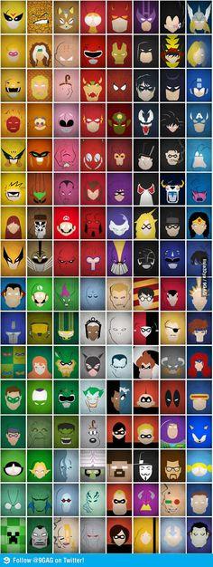 Super Heroes Minimalist