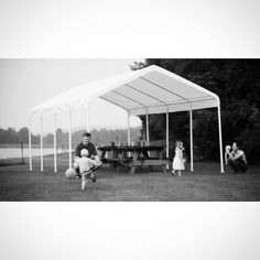 ShelterLogic 12 x 26 Super Max Commercial Grade 10 Leg Canopy Shelter - 25770 Outdoor Tent Party, Outdoor Decor, Canopy Shelter, Boat Covers, Pontoon Boat, Picnic Area, Steel Frame, Tent Parties, Beams