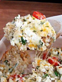 Mediterranean Quinoa Bake--feta, spinach, artichoke...yum 4 Super-Simple Dinner Recipes For An Energy Boost #Refinery29