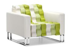 A truly unique chair, the Ripple seats incredibly comfortable with an all leatherette wrapped body and plush cushions with chrome solid steel legs.