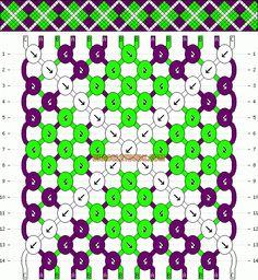 Argyle Friendship Bracelet Pattern -- I'm definitely thinking different colors! :)
