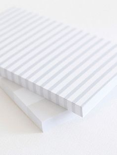 striped notepad, available in shell and bluebell. Best Notepad, Faire Part Invitation, Pen And Paper, Paper Paper, Notebook Design, Stationery Paper, Wrap, Papers Co, Bookbinding