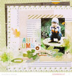 Autumn leaves [Main Kit Only] by ania-maria at @studio_calico - mixed media layout