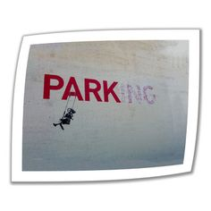 @Overstock.com - Artist: Banksy Title: Parking Product type: Unwrapped, canvashttp://www.overstock.com/Home-Garden/Art-Wall-Banksy-Parking-Unwrapped-Canvas/7824662/product.html?CID=214117 $28.99