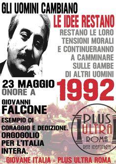 Giovanni Falcone 23 Maggio 1992 - Plus Ultra Roma