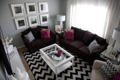 if I went for dark couches... loving the look