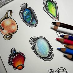 "72 Likes, 5 Comments - Rose Rambo (@vitruvian_art) on Instagram: ""Gemstone volume3 is coming out!!! I'm so excited! #vitruvianart #adultcoloringbook #adultcolouring…"""