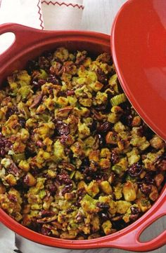 Cranberry Pear Stuffing | 25 Delicious Stuffing Recipes For Thanksgiving