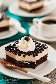 Delicious Espresso Mousse Brownies