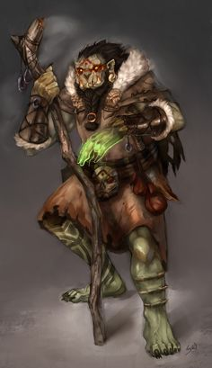 Orc Shaman by wood-illustration on deviantART