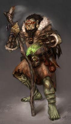 Orc Shaman by wood-illustration on deviantART