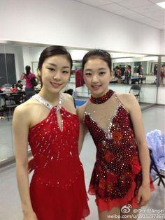 Yuna Kim and Zi Jun Li